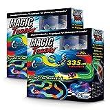 BCdirekt Magic Tracks Starter Double | Autorennbahn für Kinder ab 3 Jahren | Leuchtende Autos | Auto Zubehör für Autorennbahn | Auto Spielzeug Set