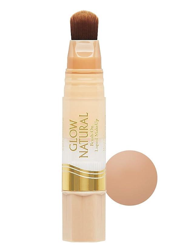 かどうか砂枯渇するMILANI Glow Natural Brush-On Liquid Makeup - Medium to Tan (並行輸入品)