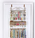 Longstem Over The Door or Wall Jewelry Organizer #7100 in Bronze, Holds Over 300 Pieces