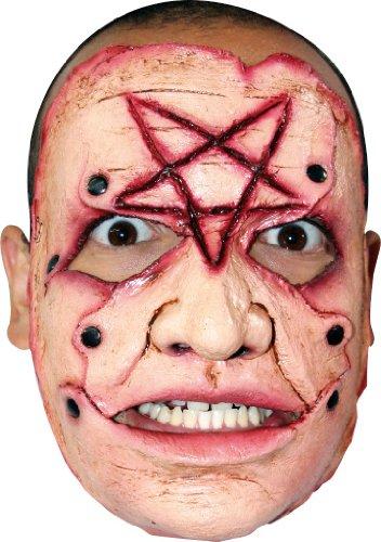 Generique - Masque tueur pentagramme adulte Halloween