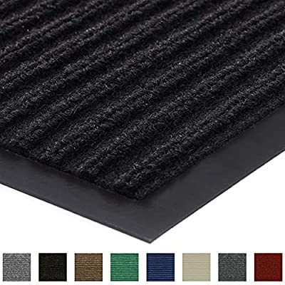 Gorilla Grip Original Low Profile Rubber Door Mat, 47x35, Heavy Duty, Durable Doormat for Indoor and Outdoor, Waterproof, Easy Clean, Home Rug Mats for Entry, Patio, High Traffic, Black