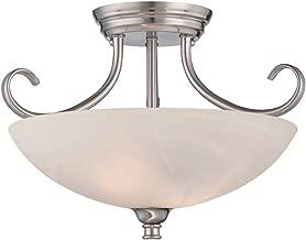 Designers Fountain 85111-SP Kendall Semi-Flushmount, Satin Platinum