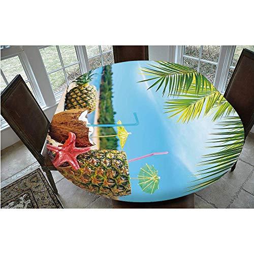 Mantel ajustable de poliéster con bordes elásticos, para mesas ovaladas o Olbong de 122 x 172 cm, protección para tu mesa azul