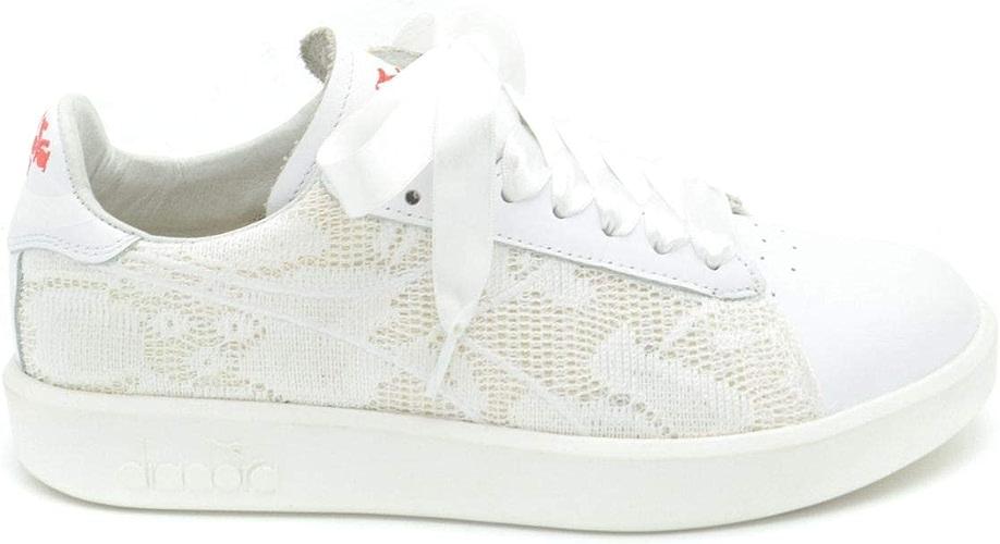 Diadora MCBI36899 Baskets en Cuir pour Femme Blanc