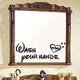 Estilo de etiqueta de la pared de vinilo extraíble lávese las manos papel tapiz de autoayuda...