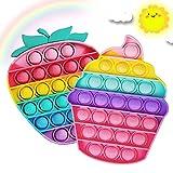 Push P-op Bubbl-e, Po-p It Fidget Toys Colorati Antistress Giocattolo Sensoriale per Autismo Giocattoli Educativi Estrusione, Po-p It Game per Bambini Adulti per Autismo Bisogno Speciale Antistress