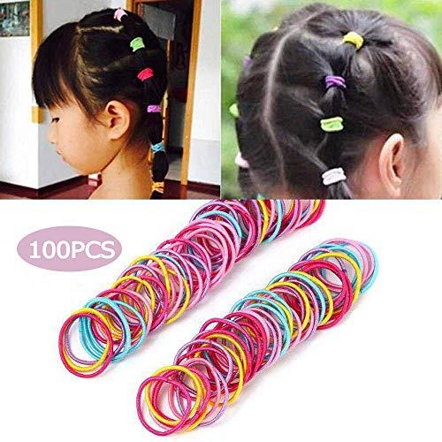 KAEHA SUN-015-13 100 Bandes élastiques colorées 100 pièces de nœuds en caoutchouc pour cheveux épais, lourds et frisés, Colorful