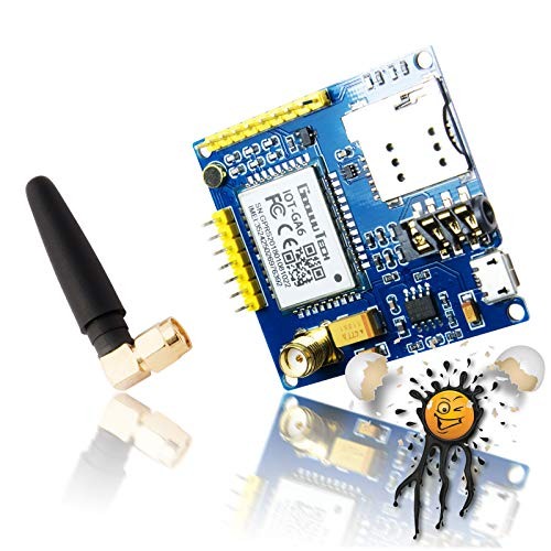 Androegg AI Thinker A6 gsm Board Set incluida Antena Quad Band 850 900 1800 1900 MHz Entwicklungsboard para Arduino SIM900 ESP8266