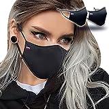 Masque Tissu Lavable - UNS1 - Réglable - Lot de 2 - Noir - 200 Lavages (2 * 100) - Fabriqué en FRANCE