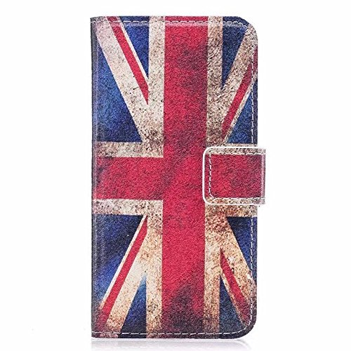 Lenovo A5000 Wallet Case,Abtory Colorful Printed Leather Wallet Case Flip Folio PU Ultra Thin Credit Card Protector Case Cover for Lenovo A5000(CP02AC2510)