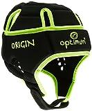 OPTIMUM Origin - Casco de Rugby, Color Negro/Amarillo Fluorescente, Talla M