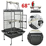Super Deal 53'/61'/68' Large Bird Cage Play Top Parrot Chinchilla Cage Macaw Cockatiel Cockatoo Pet House, 68 inch