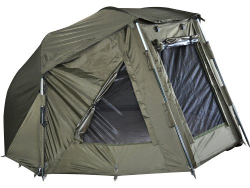 MK-Angelsport Shelter Alu Frame Brolly 10.000er Wassersäule Zelt wie Bivvy Zelt Angelzelt inkl. Gummihammer