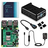 Vilros Raspberry Pi 4 Basic Kit with Black Fan Cooled Case (4GB)