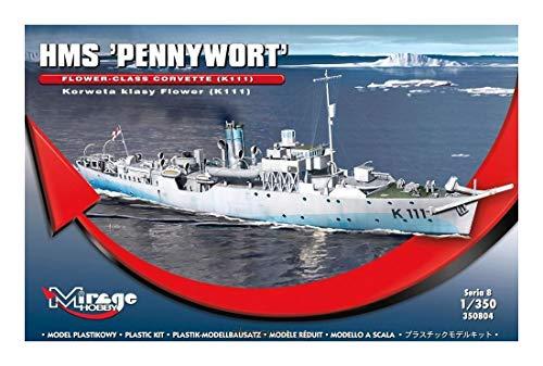Mirage Hobby 350804, 1: 350 échelle, HMS 'PENNYWORT' classe Flower Corvette, kit de modèle en plastique