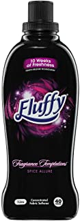 Fluffy Fragrance Temptations Concentrated Fabric Softener Conditioner Spice Allure 1L