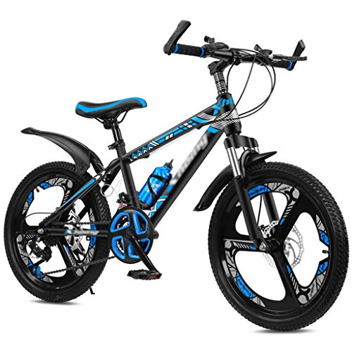 Ragazzi Girls Bike, Bambini Mountain Bike 20 22 Ruote Da 24 Pollici 21 Velocità 21 Velocità Variabile Disc Brake Mountain Bicycle, Bambini Bicycle Cruiser Bicycle ( Color : Blue-C , Size : 24 inches )
