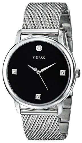 GUESS Stainless Steel Genuine Diamond Mesh Bracelet Watch. Color: Silver-Tone (Model: U0280G1)