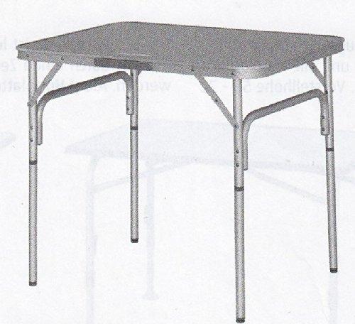 EUROTRAIL - CAMPINGTISCH - MITTEL GROSSER - STABIELO - ALUMINIUM - MIT TRAGETASCHE - ZUSAMMENKLAPPBAR - ALUMINIUM TISCHPLATTE - ROBUSTES ALUMINIUMGESTELL - Campingtisch 60 x 70/33 x 67 x 90 cm - verstellbare Tischbeine - Holly® Produkte - STABIELO INNOVATIONEN MADE IN GERMANY -