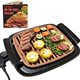 Smokeless Grill Indoor Removable - Electric Korea BBQ Griddle with Recipes, Adjustable Thermostat,...