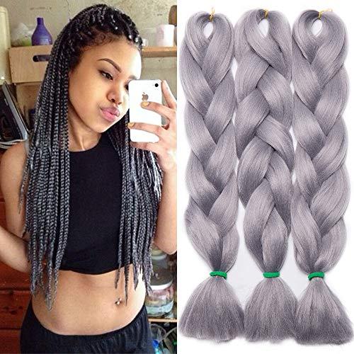TESS Braids Extensions Kunsthaar Crochet Jumbo Braids Synthetik Braiding Hair Ombre 1Pcs 100g/Bündel 24