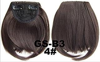 Extensiones de pelo largo de dos greñas laterales con flequillo sintético con cinta para el pelo, extensiones de pelo con ...