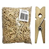 Craft4u 100-Pack of 1 6/16 Inch (35mm, 1.38') Small Clothespins Wood. Mini Natural Wooden Clothes pins for Home School Arts Crafts Decor DIY Screen, Tiny Clothespins Photo Paper Peg Pin Craft Clips