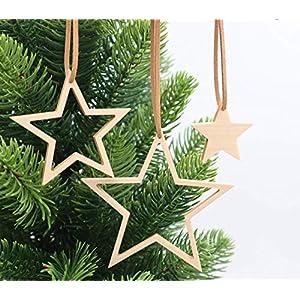 Weihnachtsdekoration Set 3-teilig aus Holz, handmade, nachhaltig, Adventsstern, Weihnachtsbaumschmuck, Christbaumschmuck…
