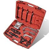 vidaXL Hydraulischer Abzieher Radlager 25-tlg. Radlagerabzieher Werkzeug