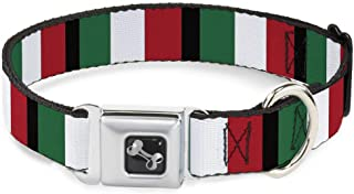 Buckle-Down Dog Collar Seatbelt Buckle Italy Flags Available in Adjustable Sizes for Small Medium Large Dogs
