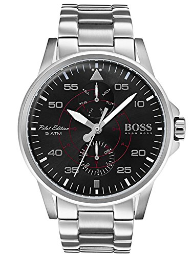 Hugo BOSS Reloj Multiesfera para Hombre de Cuarzo con Correa en Acero Inoxidable 1513518