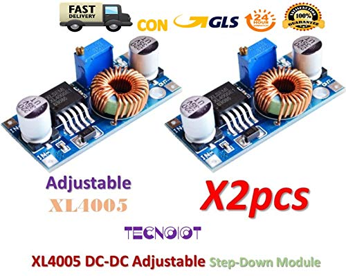 2pcs XL4005 Adjustable Step Down Power Supply Module LED Lithium Charger Board