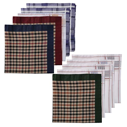 Y&G MH1031 Handsome Aaccessories 10 Pic Purple Hankies Set For Men With Presentation Box Set Great Fabric
