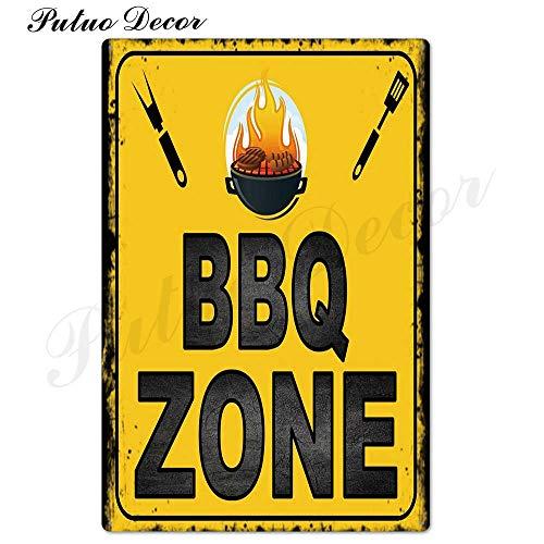 NLIFEB Signo de Barbacoa de papá Cartel de Chapa de Metal Placa decoración de Pared de Metal Parrilla Bar Pub Cocina Zona de Fiesta Cartel de Metal Vintage Pintura de Hierro 20x30cm