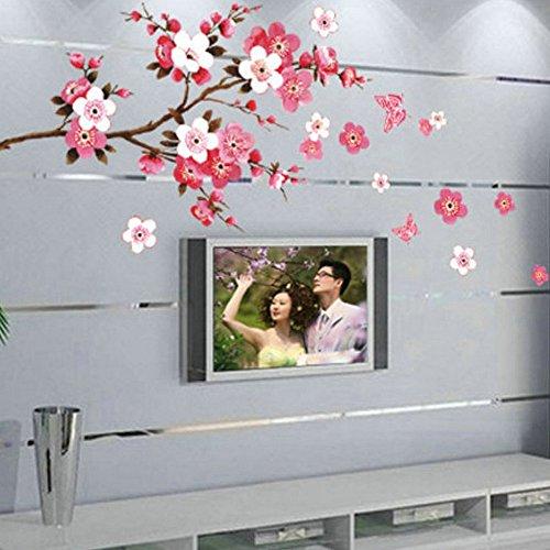 Plum flower Tree Butterfly Art Vinyl Wall Sticker Decal Mural Home Decor DIY