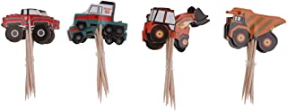 Dolity 24Pcs Truck Tractor Cupcake Pick/ Cake Cupcake Topper/ Food Pick for Decor