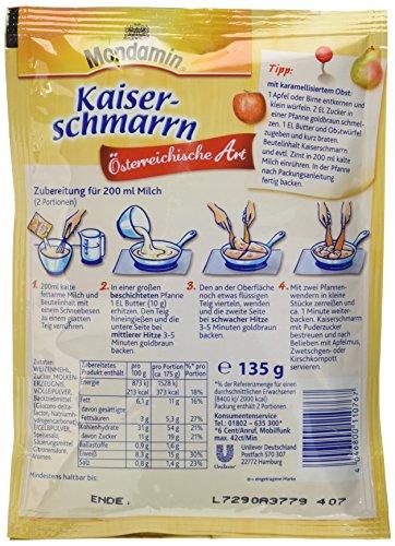Mondamin Kaiserschmarrn Österreichische Art in 10 Minuten fertig, 8 x 135 g - 2