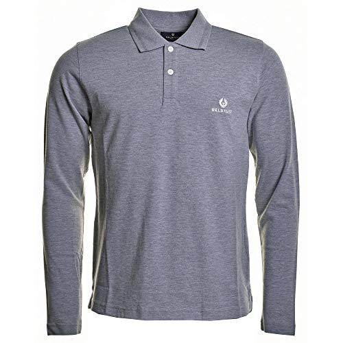 Belstaff Langarm Poloshirt grau XX Large
