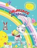 Coloriage de Pâques 4-8 Ans: Livre de Coloriages de pâques pour enfants de 4 à 8 ans pour colorier sans déborder   coloriage œufs de Pâques   Idée cadeau pour Enfant