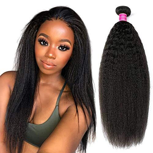26pulgadas Brasileño Virgen Kinky Straight Hair Weft #1B Cortina de Cabello 100% Natural Virgen Humano Extensiones de Pelo Natural Extensiones Naturales de Cabello 100g
