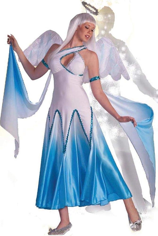 Haunted Ballroom bluee & White Angel Dress Costume Adult Medium Large