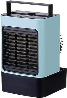 XYSoeMY Refrigerador de Aire casero Aire Acondicionado portátil, pequeño USB Recargable Iones Negativos Purificador Ventilador Pequeñas Luces nocturnas Camping Dormitorio Mudo Azul 6x8 Pulgadas