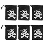 VALICLUD 6pcs Halloween Pirate Drawstring Bag Moda Bolsa de almacenamiento portátil Bolsa de regalo