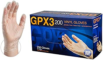 200-Pack Ammex GPX3 Clear Disposable Vinyl Gloves (X-Large)