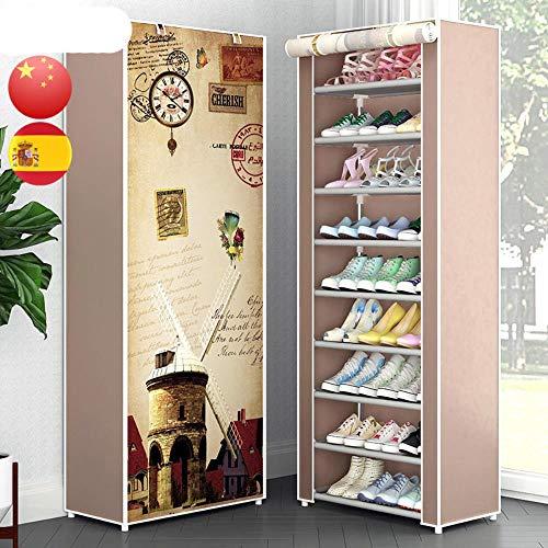 EUIWTUAJVN r zapato no tejido fácil instalación zapatos armario de almacenamiento O casa dormitorio muebles ahorro de espacio gabinete de zapato-púrpura, China