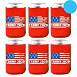 Trump 2020 Can Cooler – Keep America Great Neoprene Beer Can Coolers – Set of 6