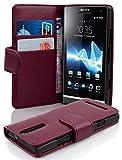 Cadorabo Coque pour Sony Xperia S, ORCHIDÉE Violets Fermoire Magnétique Housse de...