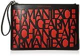 Armani Exchange A|X Damen Pouch Beutel, schwarz/rot, Einheitsgröße