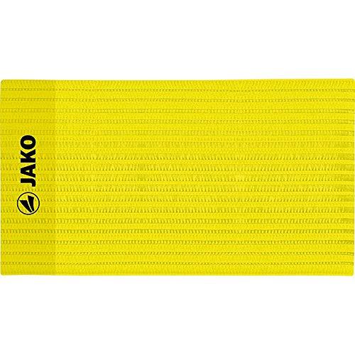 JAKO Unisex– Erwachsene Classico Kapitänsbinde, Gelb, One Size, 28 x 7.5 cm