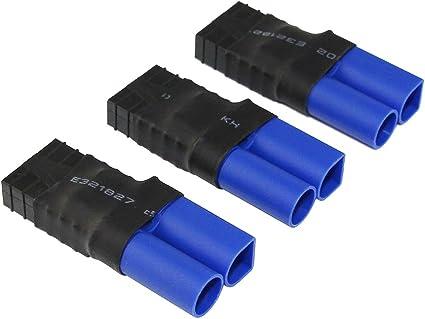 BDHI 3pcs mâle EC5 à Femelle TRX Traxxas Adaptateur Connecteur Brushless pour SCT...